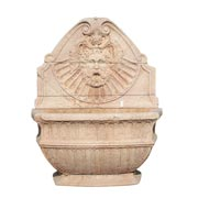 Wandbrunnen aus veroneser Rosso Marmor