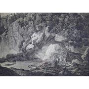 Aquarell von Emanuel Erlacher, Neptungrotte
