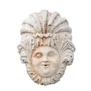 Italienischer Wandbrunnen / Wasserspeier aus Marmor, 20. Jhd.